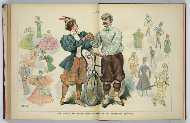 The bicycle - the great dress reformer of the nineteenth century! / Ehrhart.