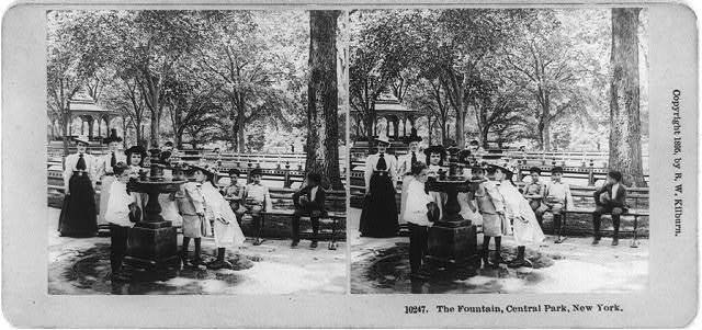 The fountain, Central Park, New York / photographed and published by B.W. Kilburn, Littleton, N.H.