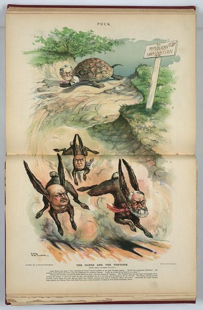 The hares and the tortoise (from Aesop, altered to suit) / J.S. Pughe.