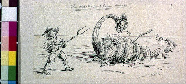 The sea-serpent comes ashore