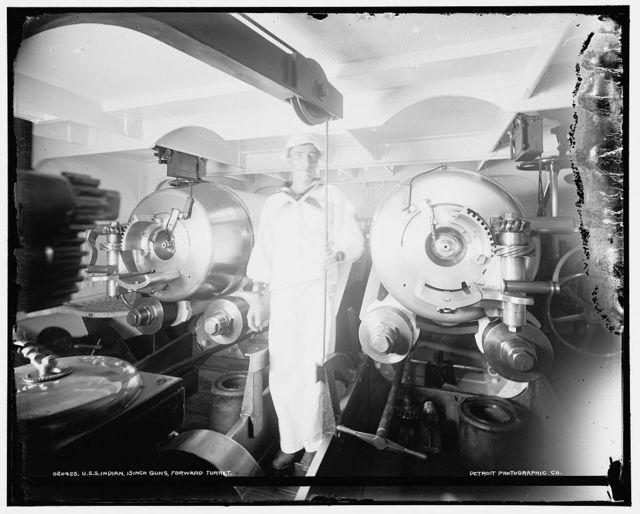 U.S.S. Indian[a]; 13 inch guns, forward turret
