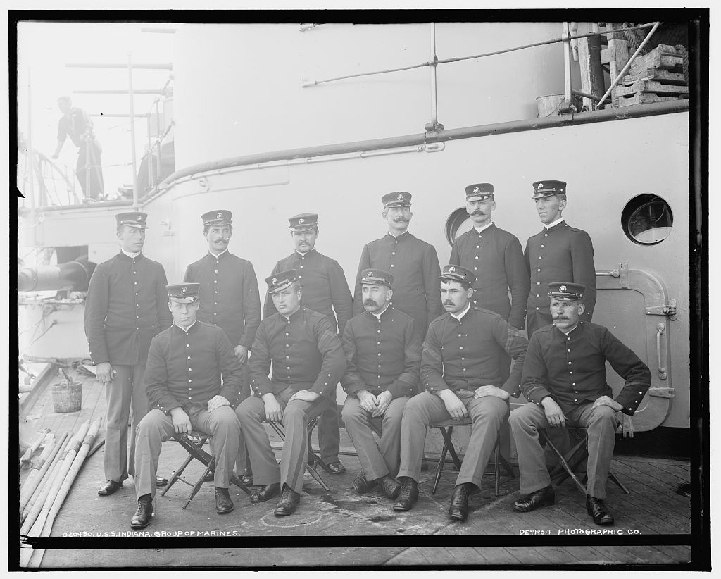 U.S.S. Indiana, group of marines