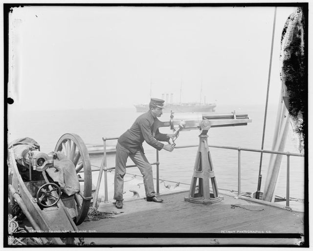 U.S.S. Indiana, machine guns