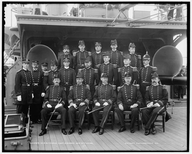 U.S.S. Texas, Capt. Sigsbee and officers