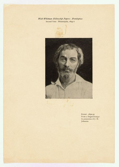 Walt Whitman fellowship papers - frontispiece, second year, Philadelphia, 1895-96