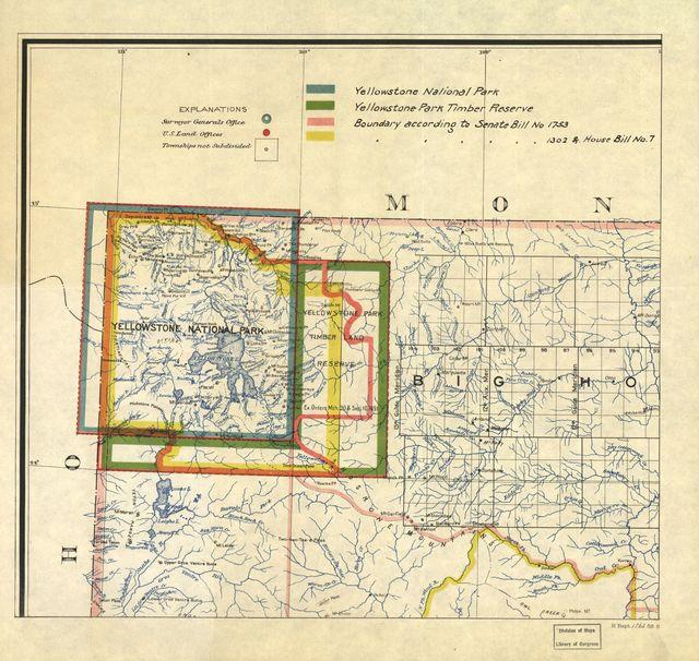 [Yellowstone National Park boundaries].