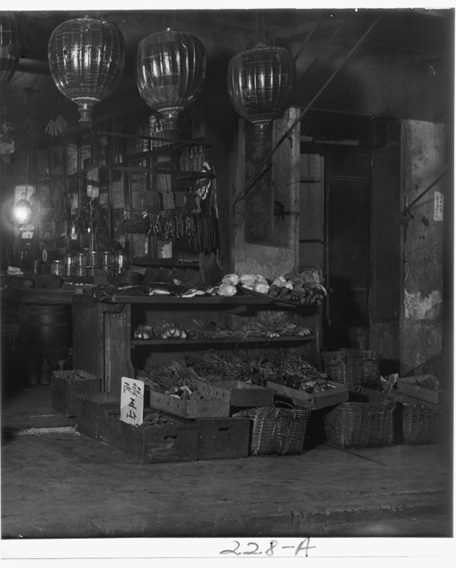 A grocery shop, Chinatown, San Francisco