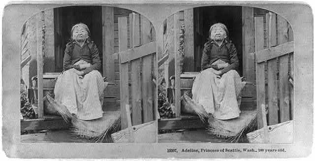 Adeline [i.e., Angeline?] Princess of Seattle, Wash., 100 years old