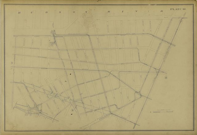 Atlas of the city of New York lying south of 166th st. showing surface railroads /