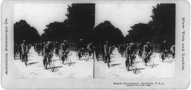 Bicycle tournament, Brooklyn, U.S.A.