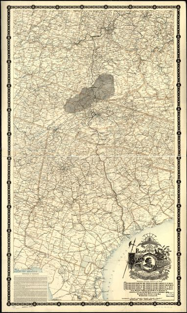 Boones map of the Black Diamond System of Railways, J. D. McKisson del., Perysville Ohio.