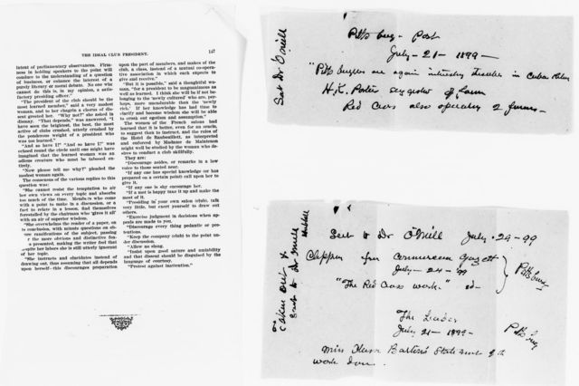 Clara Barton Papers: Miscellany, 1856-1957; Newspaper clippings; 1896-1905