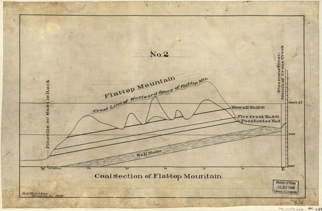 Coal section of Flat-top Mountain /