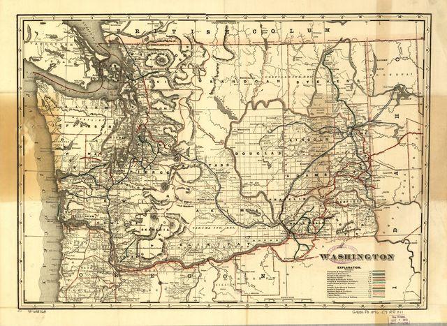 Cram's township and railroad map of Washington.