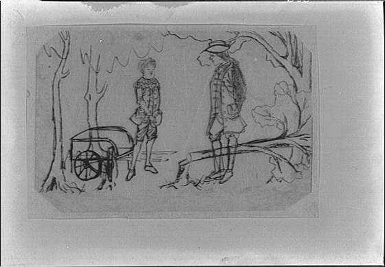 Drawing that belonged to Arnold Genthe