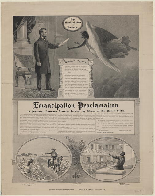 Emancipation proclamation of President Abraham Lincoln, freeing the slaves of the United States, [Daniel, Sr.] .