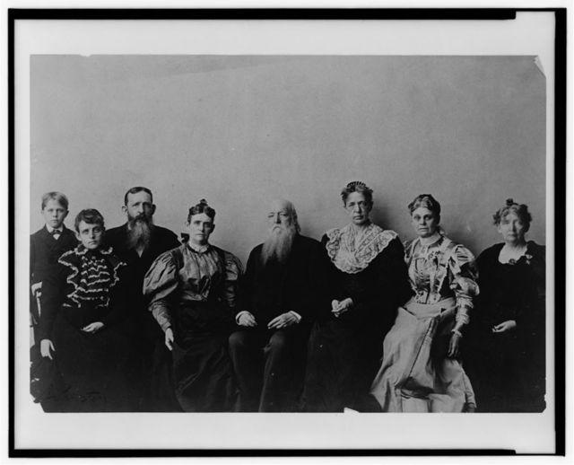 [Frances Benjamin Johnston posed with seven members of her family, in her Washington, D.C. studio(?)]