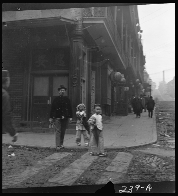 Gambling hall, Jackson Street corner, Chinatown, San Francisco