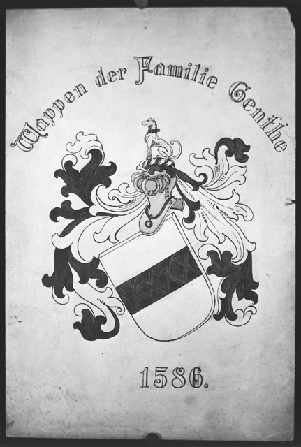 Genthe family crest