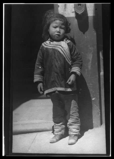 Hairy kid, Chinatown, San Francisco