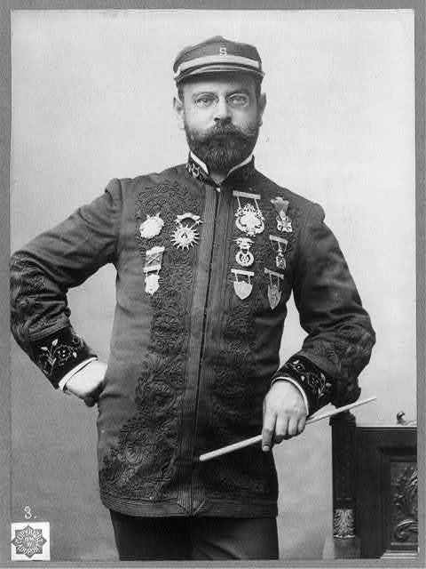 [John Philip Sousa, 1854-1932, half-length portrait, standing, facing right]