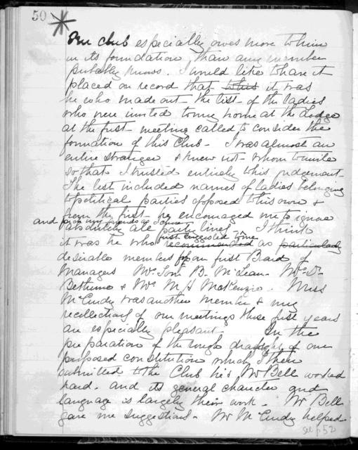 Journal by Mabel Hubbard Bell, from 1896 to 1923