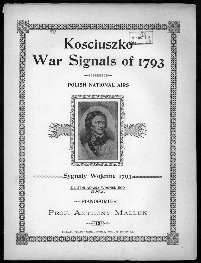 Kosciuszko war signals of 1793