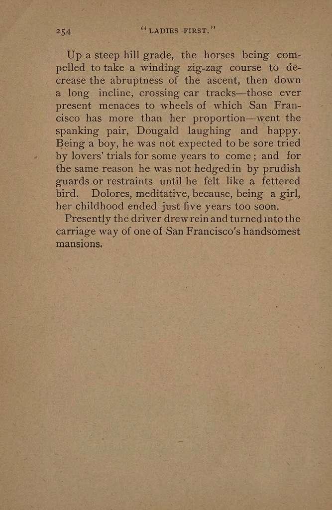 """Ladies first!"" A novel,"