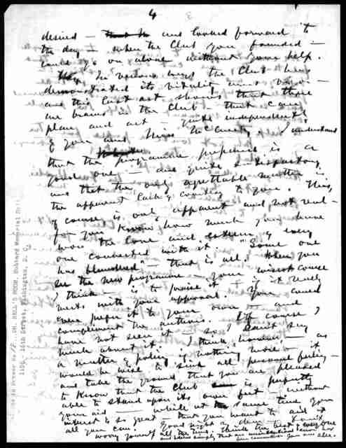 Letter from Alexander Graham Bell to Mabel Hubbard Bell, November 17, 1896