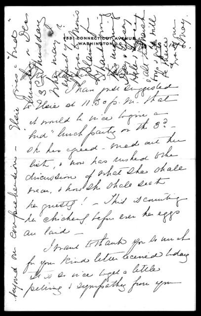 Letter from Mabel Hubbard Bell to Alexander Graham Bell, November 23, 1896
