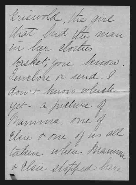 Letter from Marian Bell Fairchild to Alexander Graham Bell, from November 15, 1896 to November 22, 1896