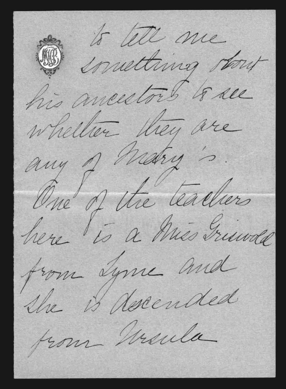 Letter from Marian Bell Fairchild to Alexander Graham Bell, from November 15, 1896 to November 22, 1896