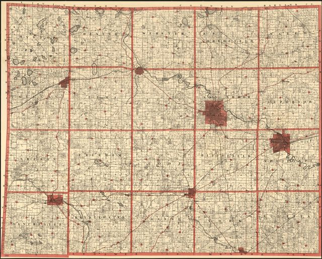 M. M. Dickson & Co's township and sectional pocket map of Washtenaw County, Michigan.