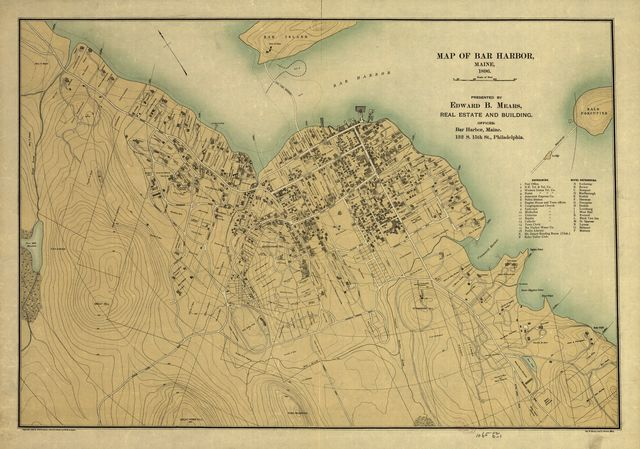 Map of Bar Harbor, Maine, 1896.
