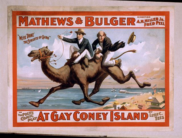 Mathews & Bulger in the polite comic play, At gay Coney Island by Levin C. Tees.