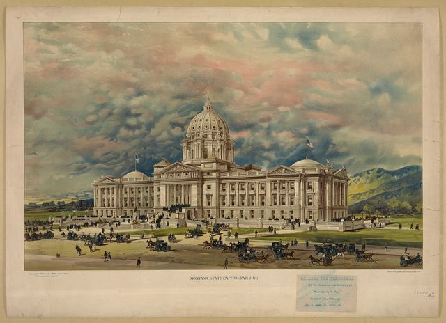 Montana state capitol building / litho. by W.E. Stephens & Co., 716 Locust St., St. Louis.