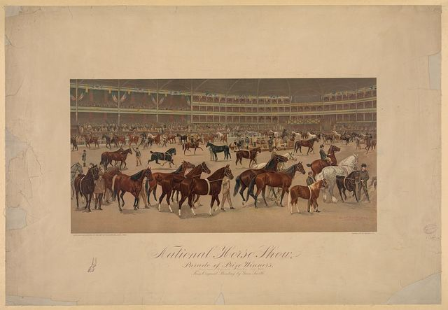 National horse show, parade of prize winners