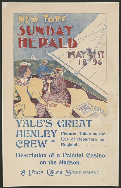 New York Sunday Herald, May 31st  1896. Yale's great henley crew