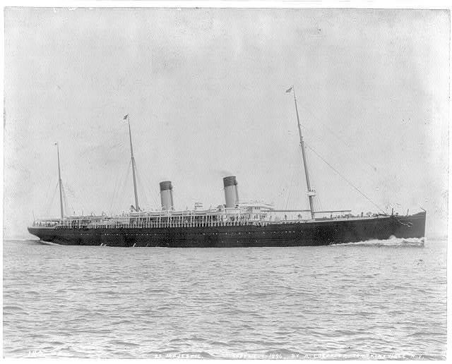 [N.Y. (City) Harbor: SS MAJESTIC - full, broadside view]