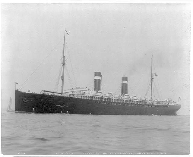 [N.Y. (City) Harbor: SS ST. LOUIS - full, broadside view]