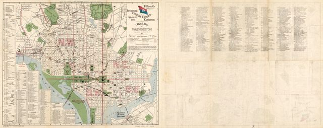 Official map of Washington : fifteenth International Christian Endeavor Convention, July 8-13, 1896 /