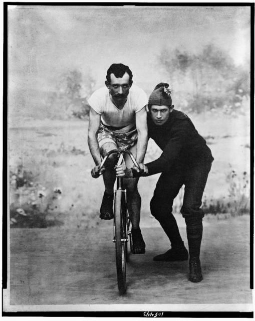 [Olof P. Nelson and trainer]