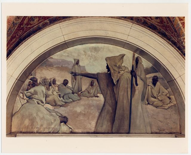 [Oral Tradition mural in Evolution of the Book series, by John W. Alexander. Library of Congress Thomas Jefferson Building, Washington, D.C.]