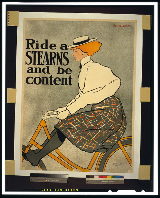 Ride a Stearns and be content / J. Ottmann Lith. Co., Puck Bld'g, N.Y.