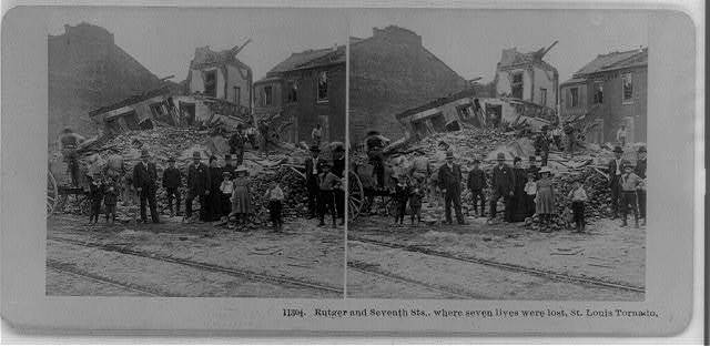 Rutger and Seventh Sts., where seven lives were lost, St. Louis tornado
