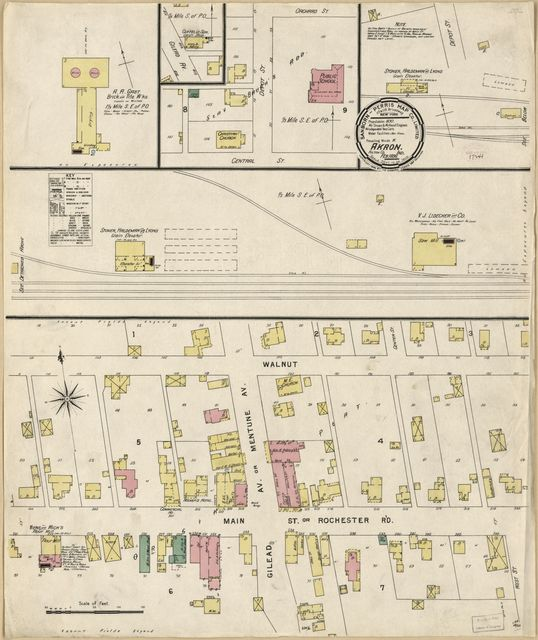 Sanborn Fire Insurance Map from Akron, Fulton County, Indiana.