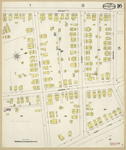 Sanborn Fire Insurance Map from Bridgeton, Cumberland County, New Jersey.