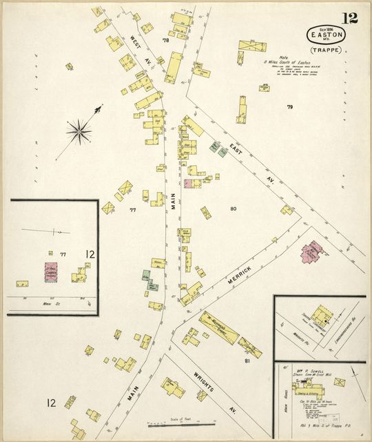 Sanborn Fire Insurance Map from Easton, Talbot County, Maryland.