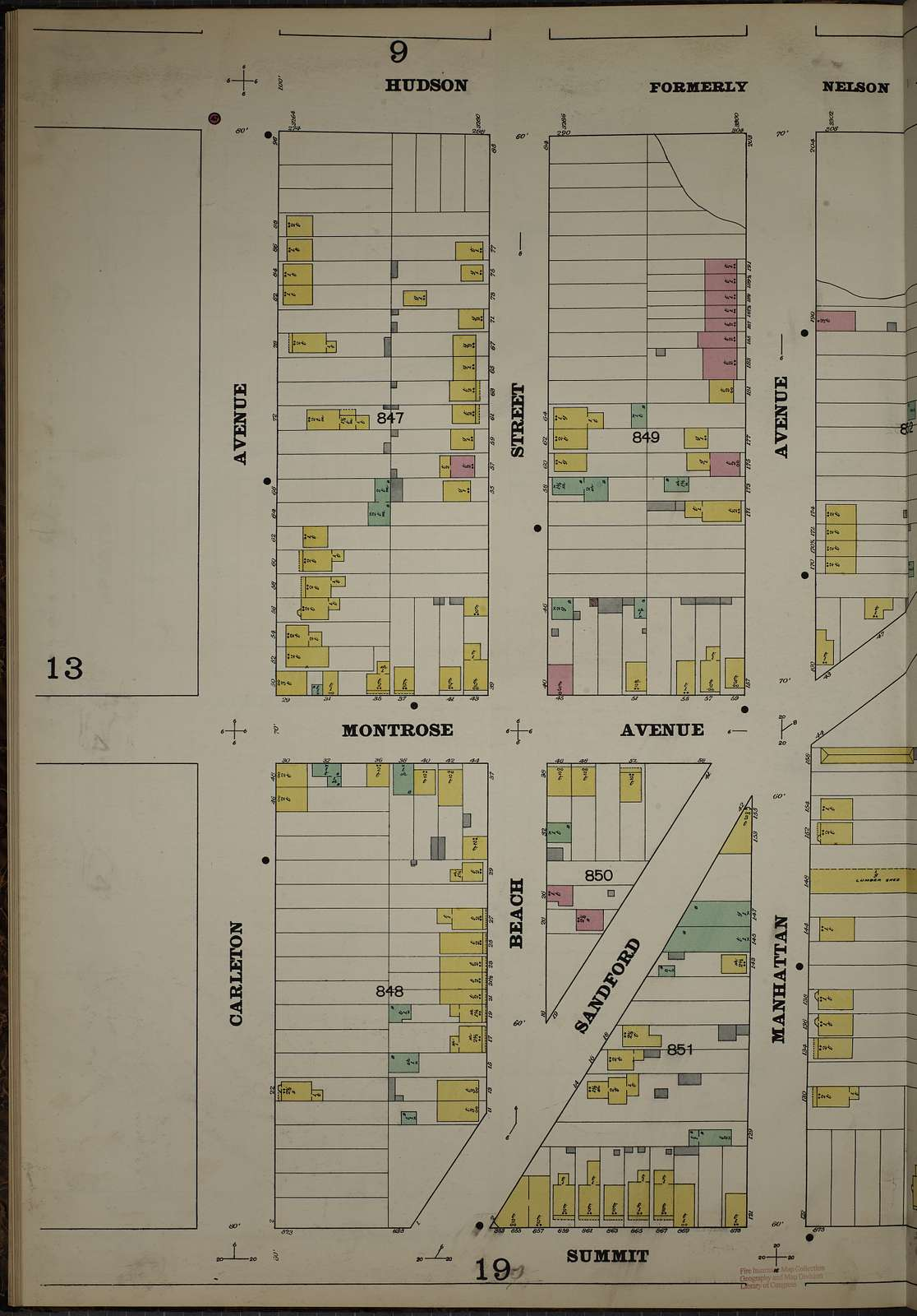 Sanborn Fire Insurance Map from Hudson Co., Hudson County, New Jersey
