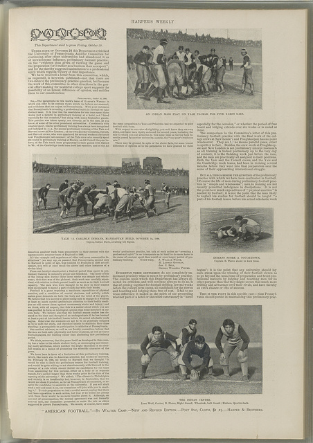 [Scenes from a Yale vs. Carlisle Indians football game at Manhattan Field]